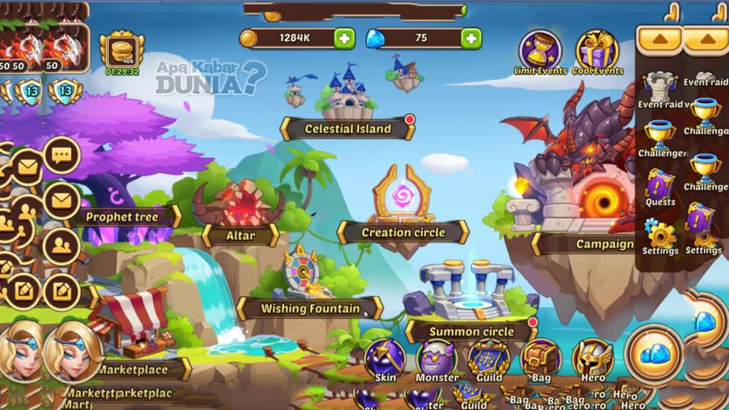 Fitur Baru Luar Biasa dari Idle Heroes Mod RPG