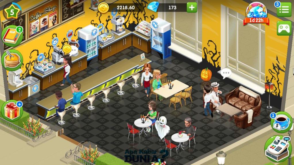 Fitur Baru Yang Luar Biasa dari My Cafe Game Android
