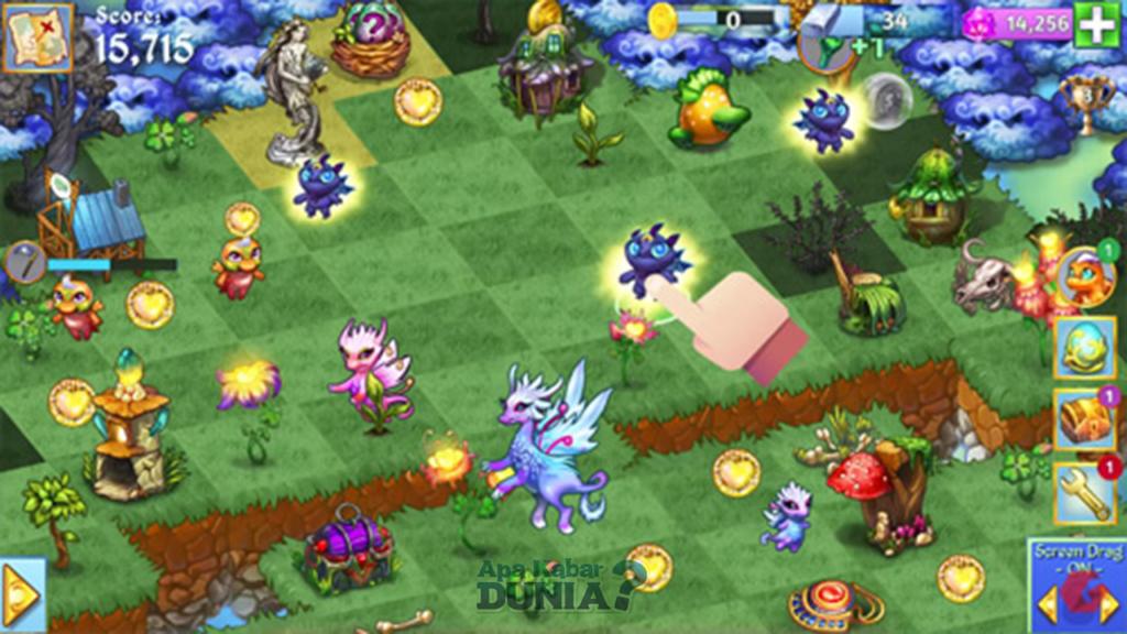 Gameplay dari Merge Dragons