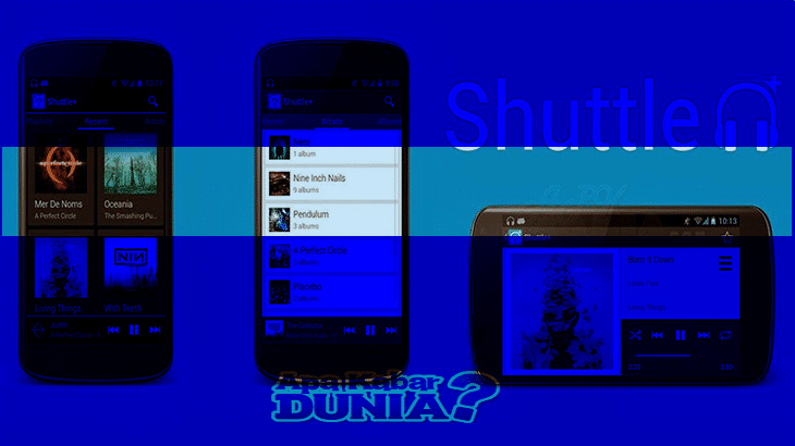 Aplikasi Shuttle Music Player