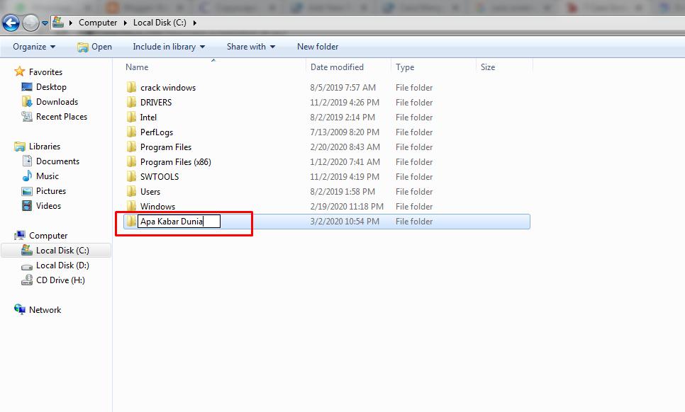 Cara Mengunci Folder Pada Windows