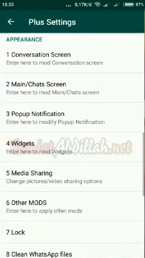 Appearance WhatsApp Plus